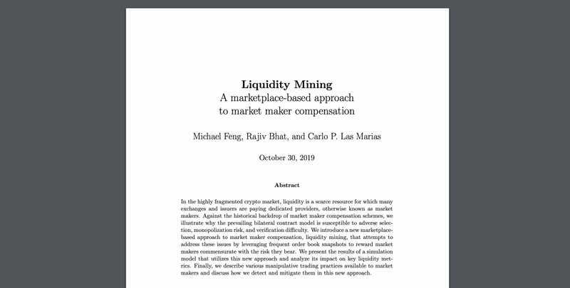 Liquidity Mining whitepaper