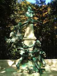 A monument to Delacroix, at the Jardin du Luxembourg by Aimé-Jules Dalou (1838-1902) (© World Imaging, CC BY-SA 4.0)