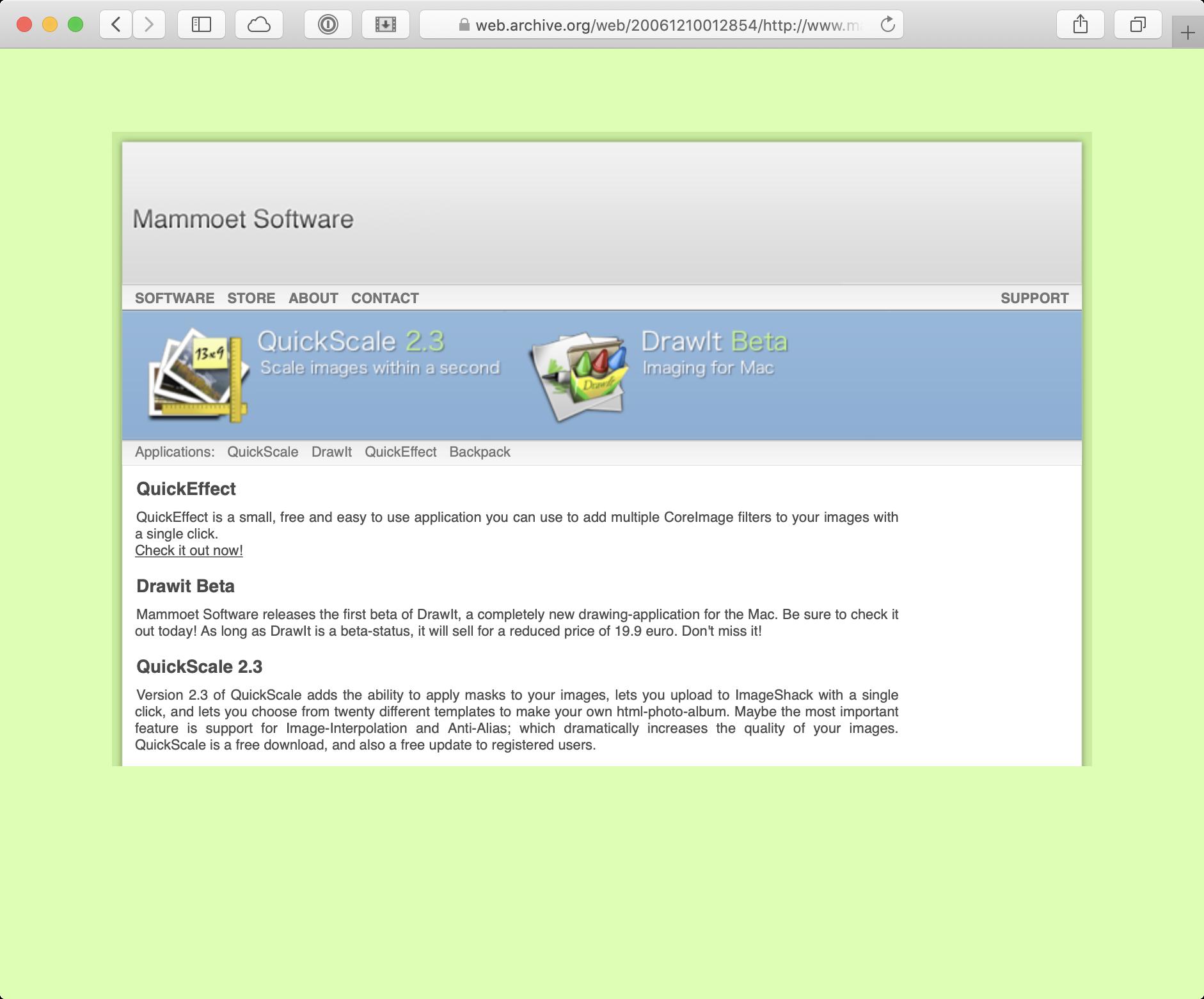 Website Mammoet Software 2006
