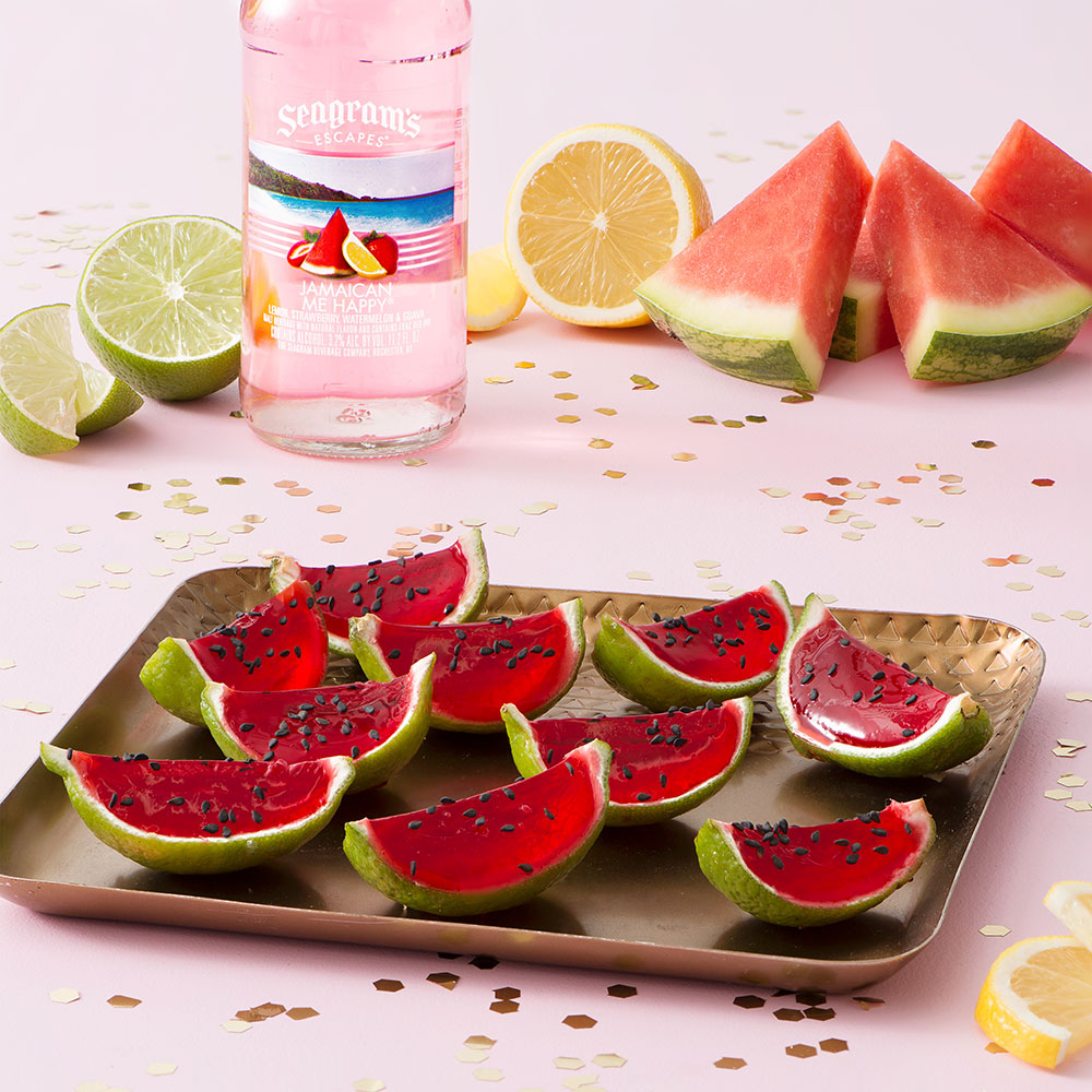 Jamaican Me Happy Watermelon Slice Shooters