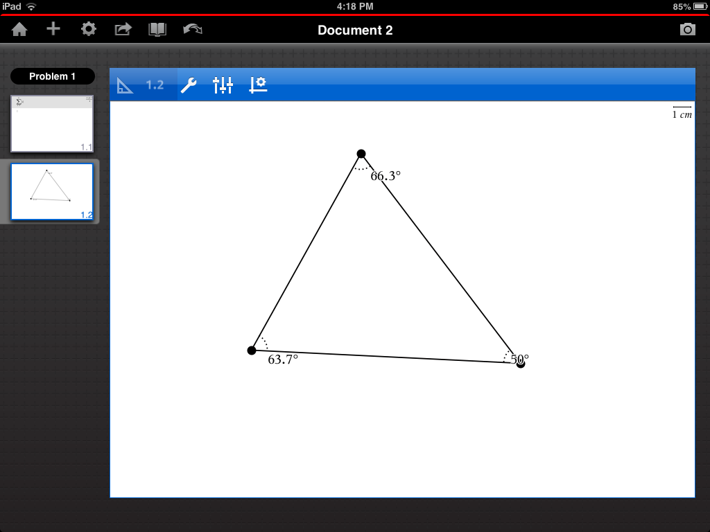 TI-Nspire ipad geometry