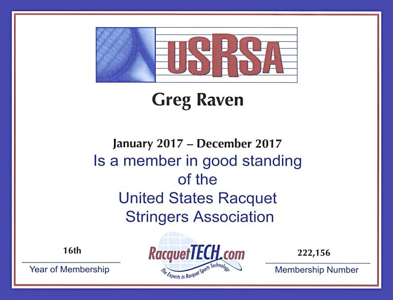 Greg Raven's 2017 USRSA MRT certificate