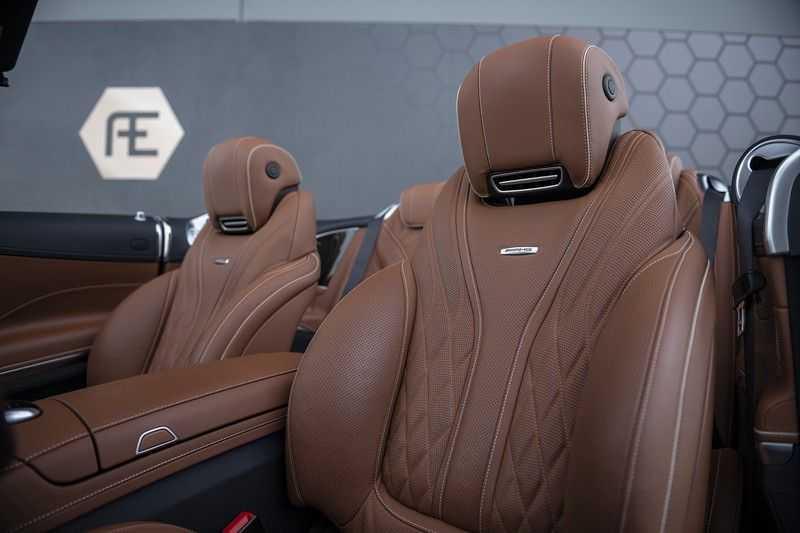 Mercedes-Benz S63 Cabrio 63 AMG 4Matic DISTRONIC + BTW + BURMESTER afbeelding 17