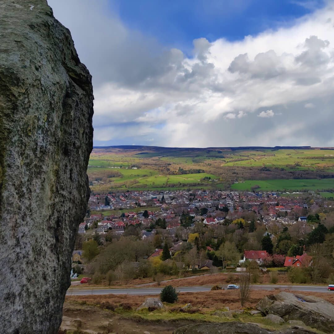 Ilkley Moor view over Ilkley