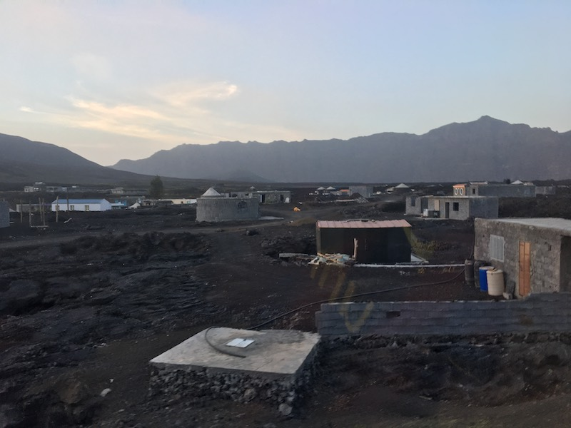 The new village was built on top of the dried lava