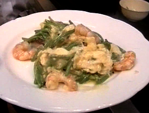 eggs with prawns