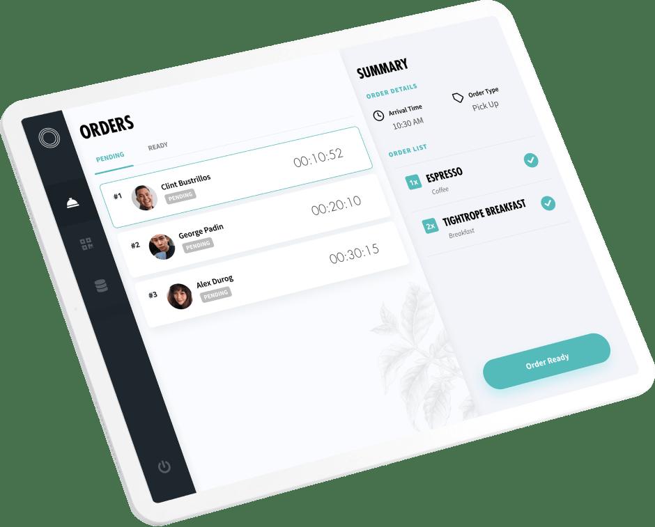 Tightrope App on Tablet