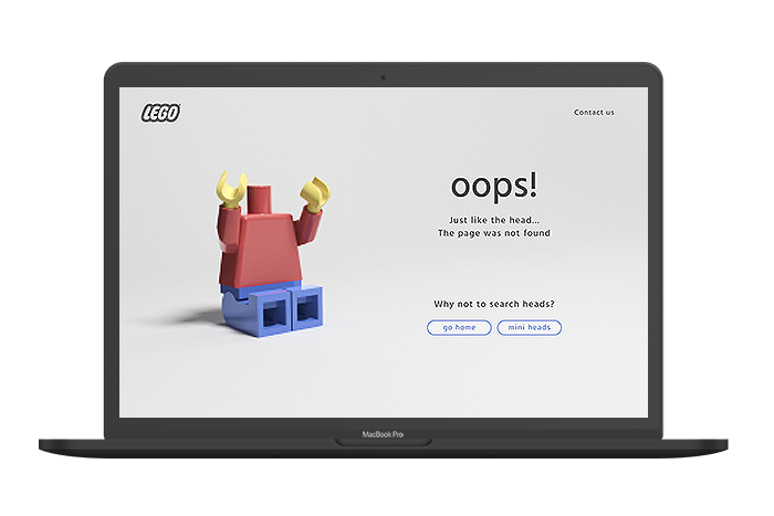 Page not found for LEGO website.