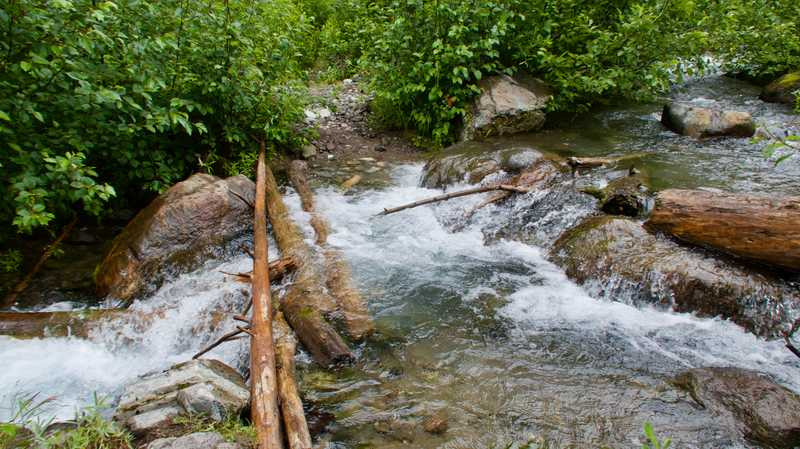 No bridge at Chetwot Creek