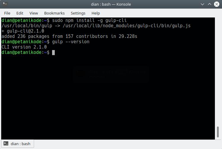 Install Gulp on Linux