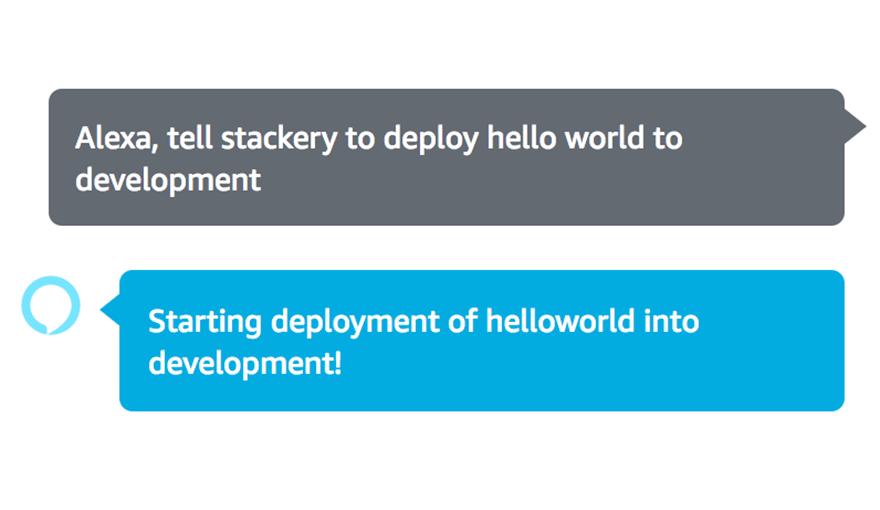 Alexa, tell Stackery to deploy