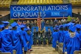 Grads at commencement
