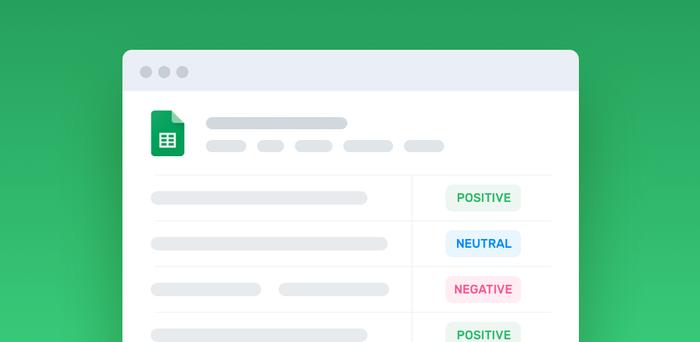 Analyze Sentiment of Tweets & Feedback in Google Sheets
