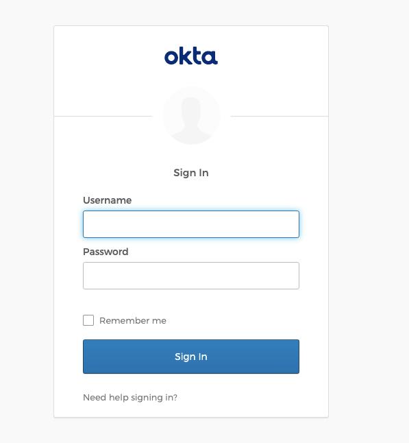 visit Okta login page