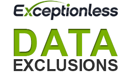 Exceptionless Data Exclusions for Security