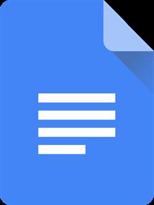 Google Docs's logo.