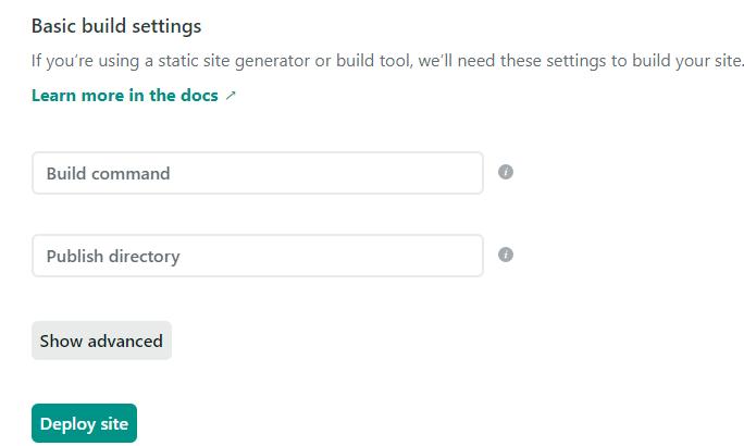 Netlify new settings screen