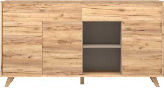 Germania Calvi Dressoir: Medium eiken met lage poten