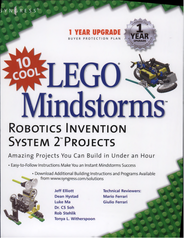 10 Cool Lego Mindstorms: Robotics Invention System 2 Projects