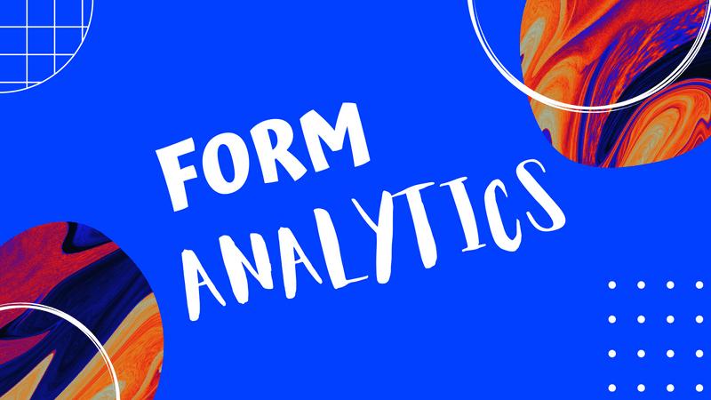 Content update - Form Analytics