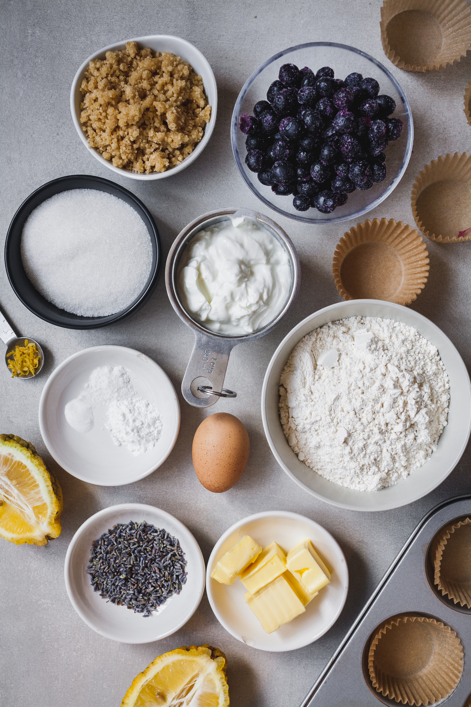 Blueberry Lavender Muffins