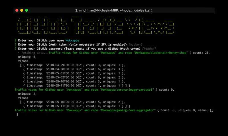 My First NPM Package: github-traffic-cli Image