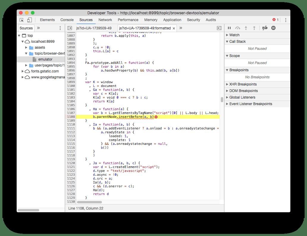 The Javascript debugger
