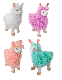 "The Petting Zoo: 17"" Zootique Woolly Llama Standing Assortment"