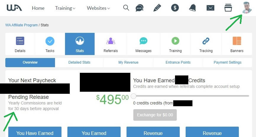 Yearly recurring affiliate commissions proof