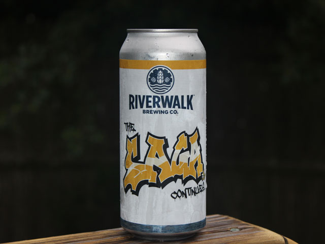 The Saga Continues, a DIPA brewed by Riverwalk Brewing Company