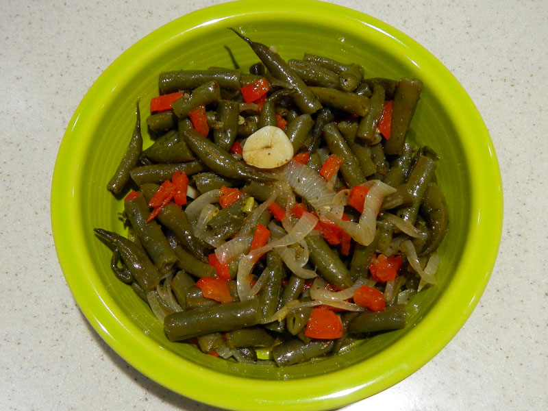 Finished Pickled Green Beans