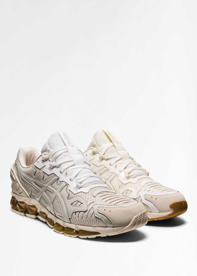 ASICS by GmbH Gel Quantum 360 Ivory Grey Front