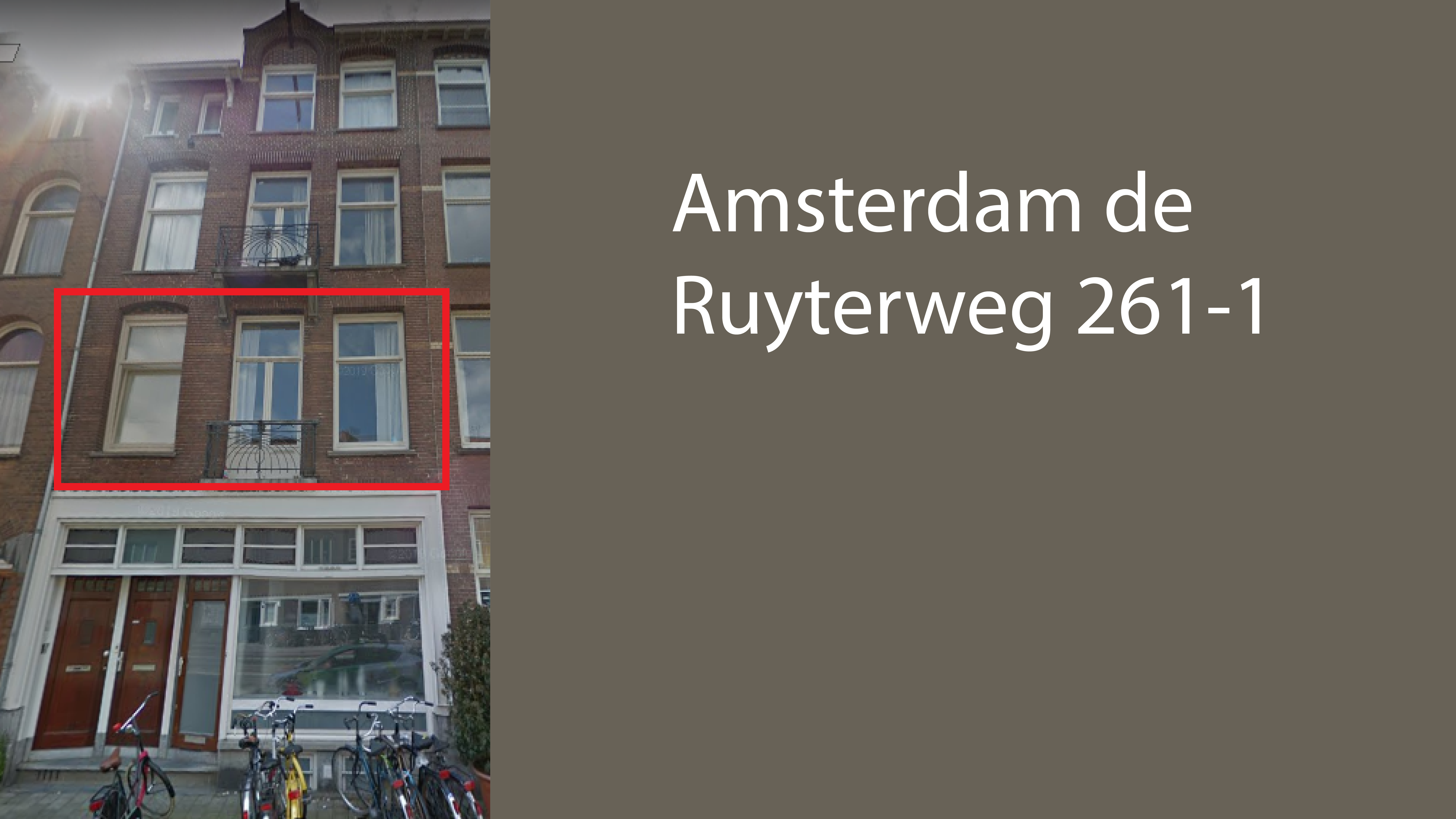 Amsterdam de Ruyterweg 261-1
