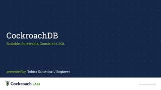 Inside CockroachDB Beta [Tech Talk at Clarifai]