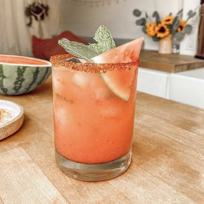 Smashed Watermelon Margarita Cocktail