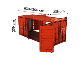 TrawlFeet - Open Side Container >