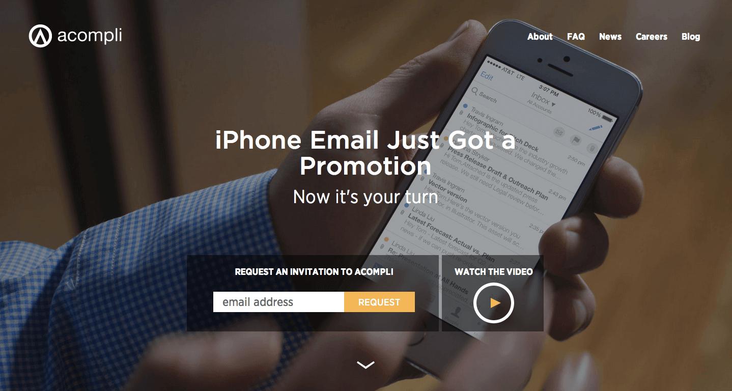 Acompli home page