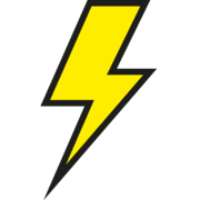 yellow lightning bolt