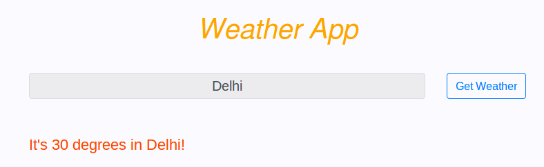 Weather Website using Nodejs, Express · Zap!