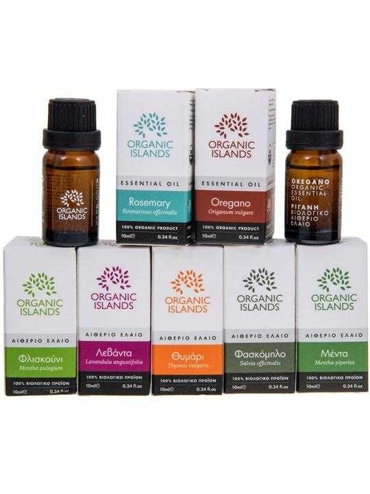 Set of 7 organic essential oils
