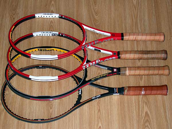 Test racquets in their 'bare' condition