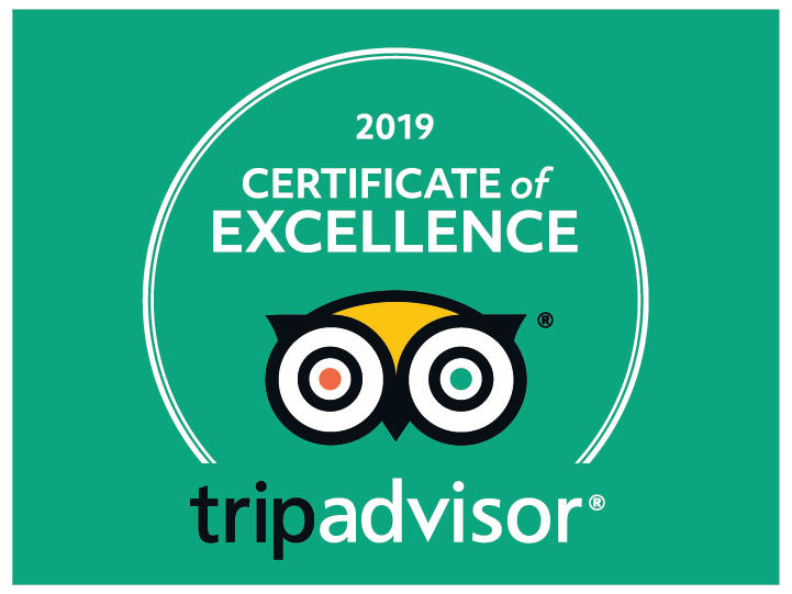 Our consistent quality of service - proved by TripAdvisor!