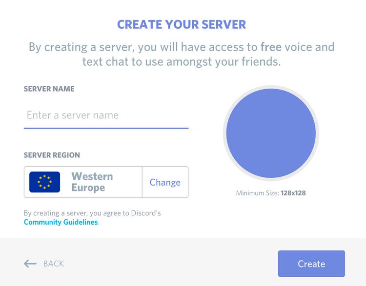 Create a server - step 3