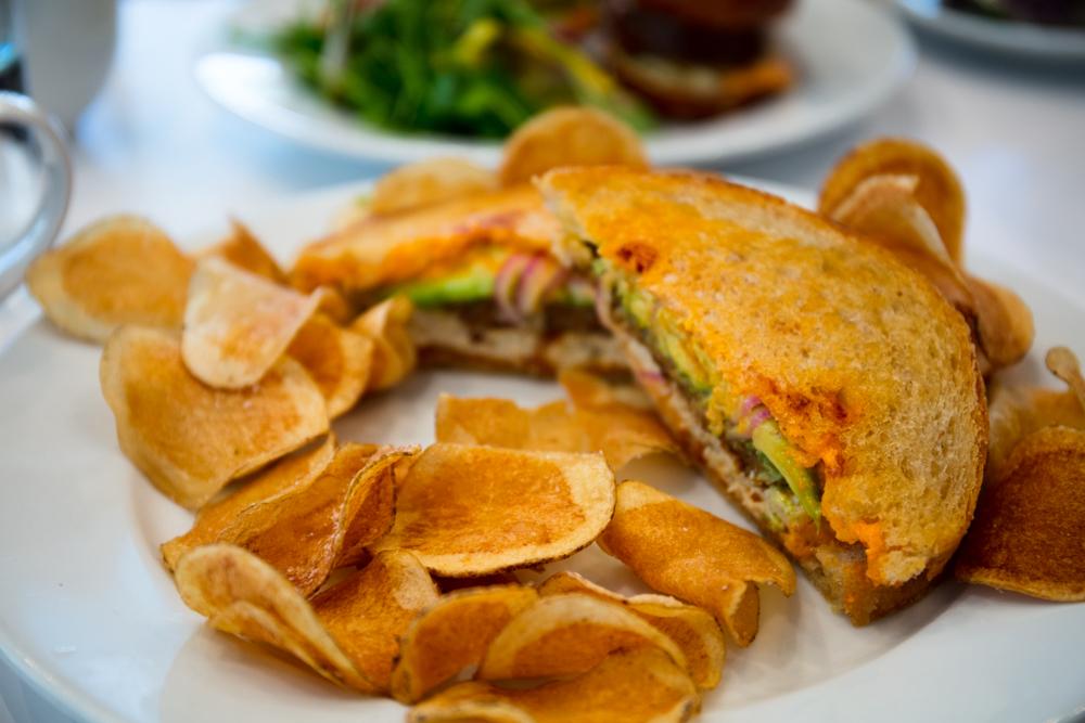 Vegan breakfast sandwich from Little Pine