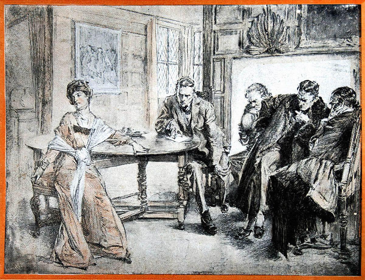 Иллюстрация к «Долине страха» / Артур Келлер, arthur-conan-doyle.com, 1915 г.
