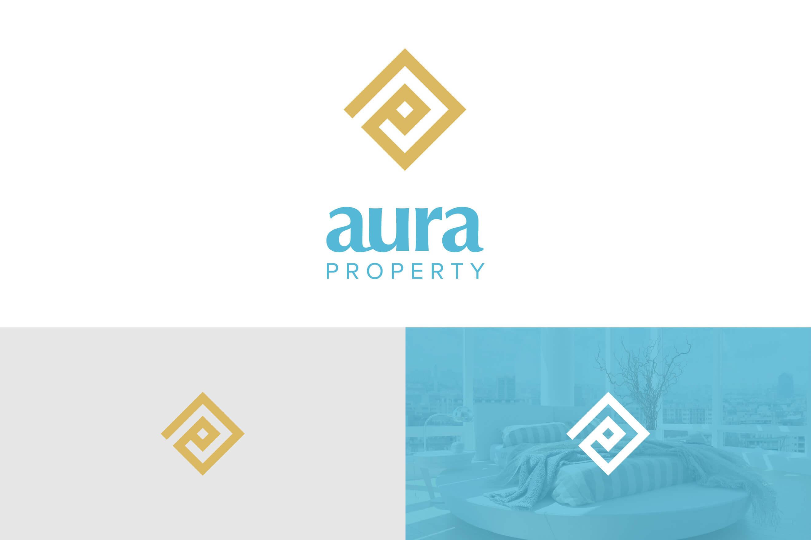 logo design for Aura Property