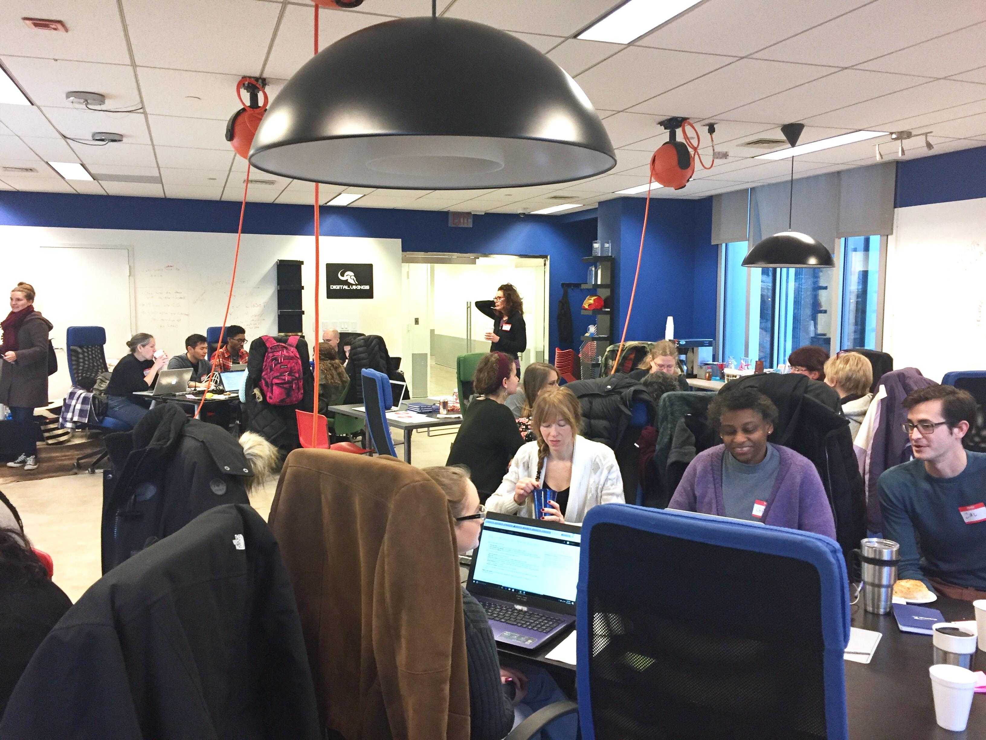 Photo of GDI hackathon
