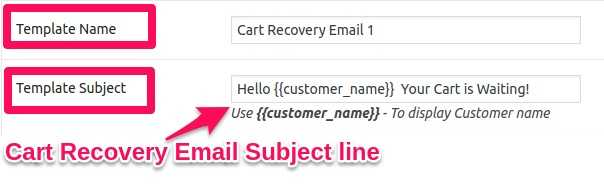 Abandoned Cart EMail Subject Line
