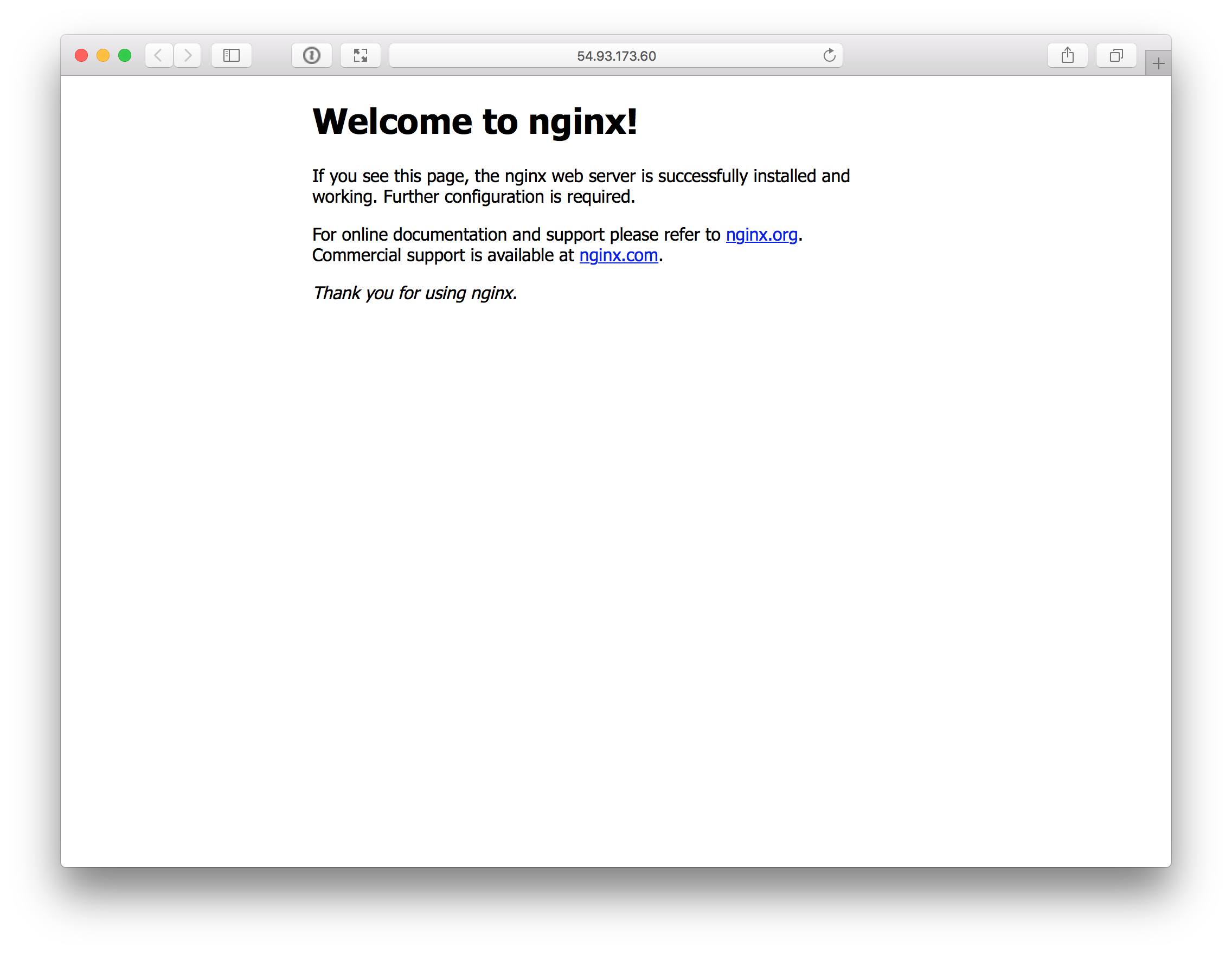 Nginx in browser