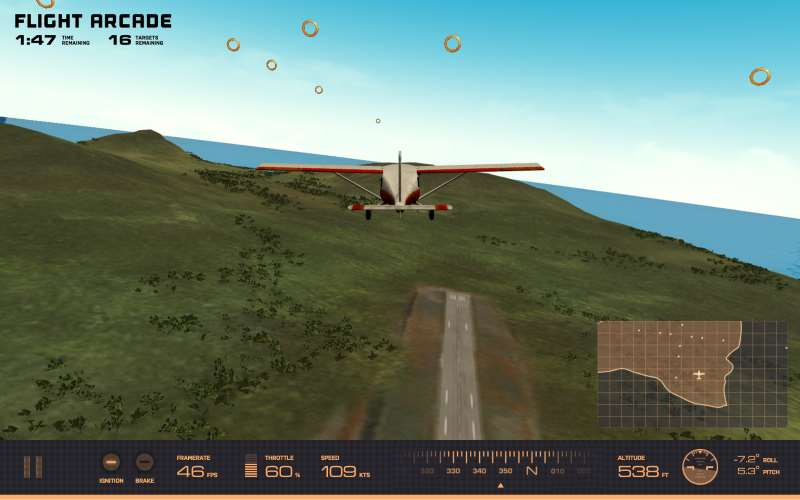 WebGL scene for FLIGHT ARCADE